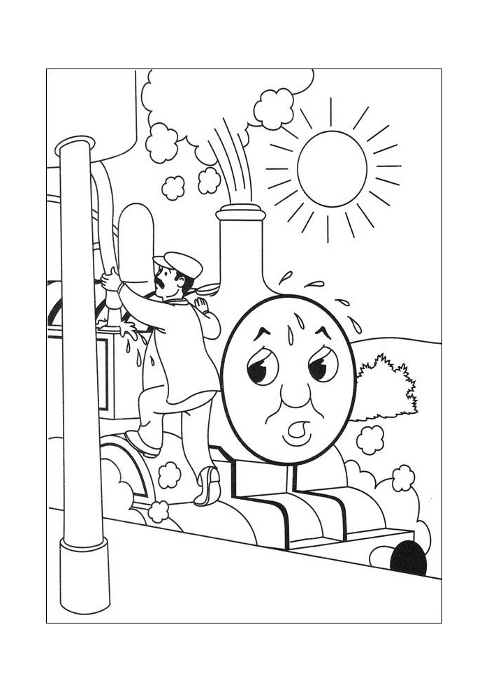 Thomas de trein - pppffff wat is het warm